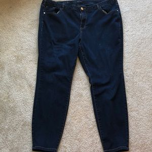Lane Bryant 22 regular skinny jeans